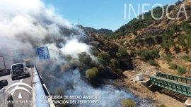 Infoca trabaja con medios de Castilla-La Mancha por el incendio que afecta a Santa Elena (Jaén) y Ciudad Real