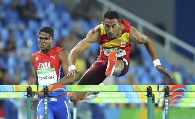 Orlando Ortega en los Juegos Olímpicos de Río