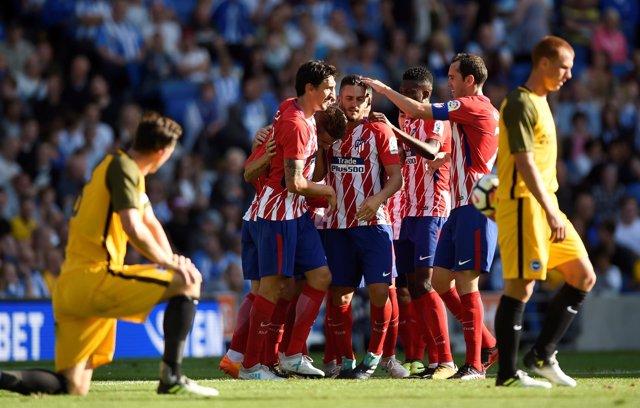 El Atlético prolonga su buena racha en pretemporada venciendo al Brighton