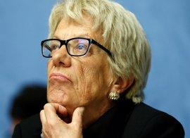 Carla del Ponte abandona la comisión de investigación sobre Siria por falta de apoyo del Consejo de Seguridad