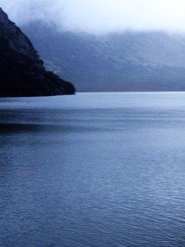 Foto del embalse de Gorg Blau con el 84,8% de las reservas