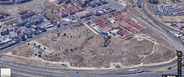 Parcela de Fuencarral que será transformada en bosque urbano