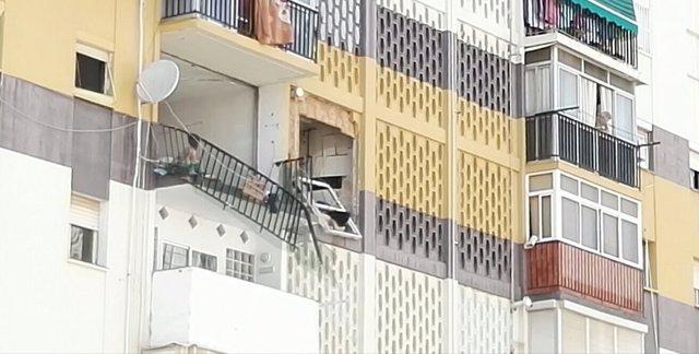 Explosión gas palmilla jose terraza