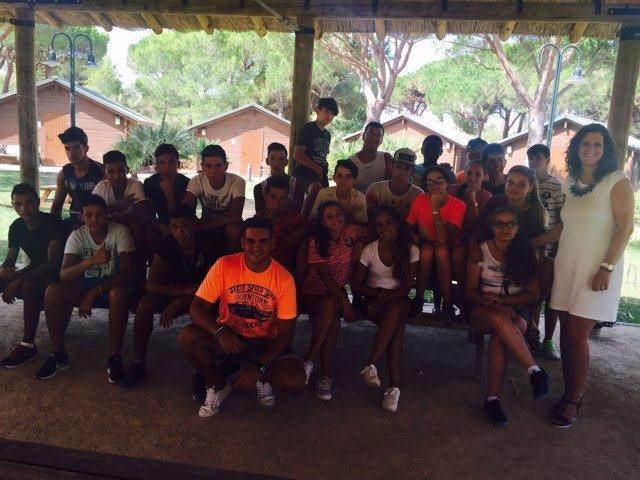 Los participantes en el campamento de verano de El Puerto
