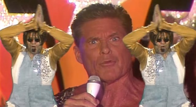 David Hasselhoff interpreta 'Guardians Inferno'