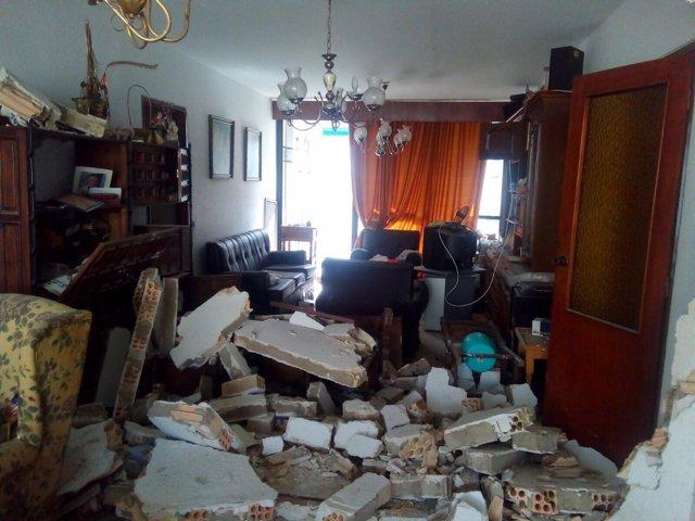 Estado vivienda palmilla explosión gas calle guadiato málaga