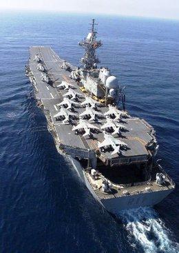 El portaaviones 'Príncipe de Asturias' de la Armada