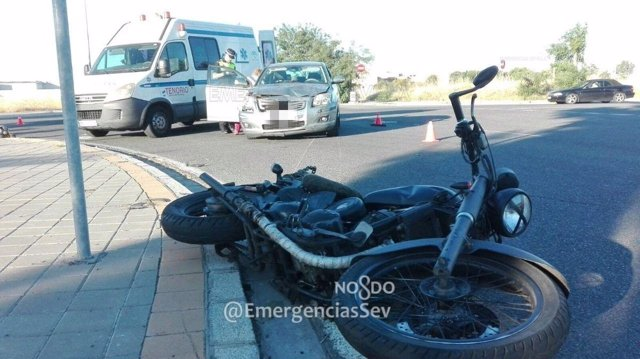 Accidente de moto en Sevilla