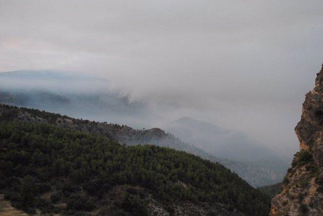 Imagen del incendio forestal en Segura de la Sierra (Jaén)