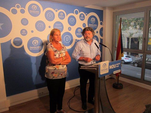 Los portavoces de Demòcrates N.De Gispert y A.Castellà.