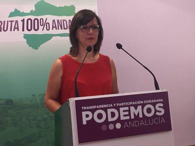 La secretaria de Municipalismo de Podemos Andalucía, Rocío Van der Heide