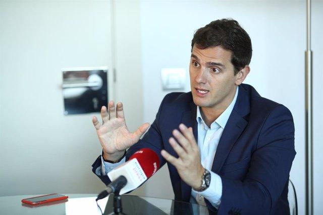 Entrevista de Europa Press a Albert Rivera