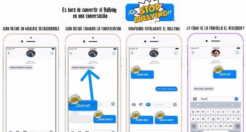 """La app 'RompeBullying' convierte mensajes de acoso escolar en """"conversaciones agradables"""" que abogan por la comunicación"""