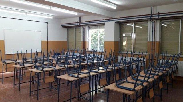 Un aula de la nueva Escuela Oficial de Idiomas de Granada