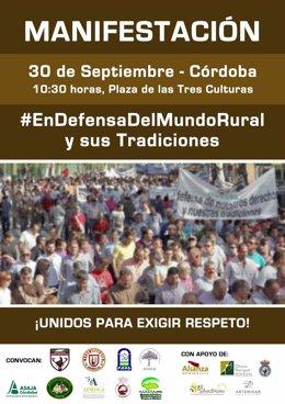 Manifestación por el mundo rural
