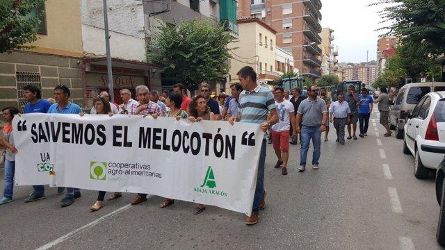 Manifestación este lunes en Fraga.