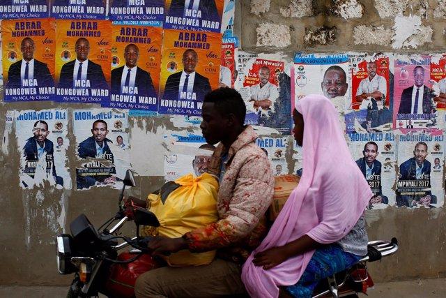Campaña electoral en Kenia