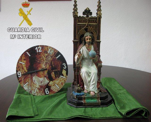Detenido por robar objetos religiosos de la capilla del Hospital de Serra