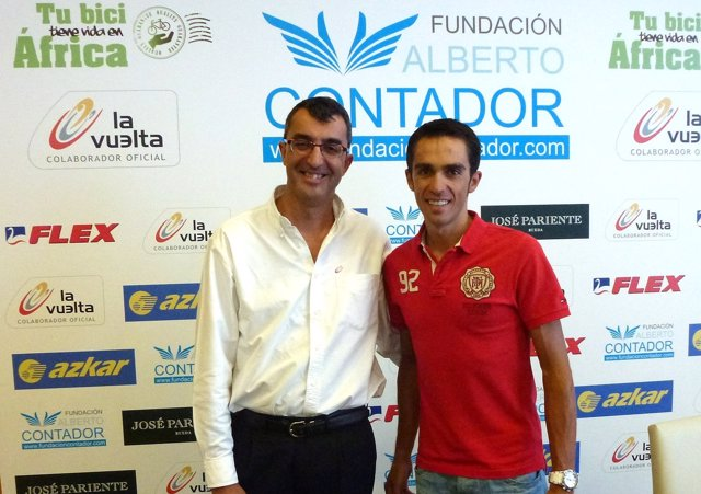 Javier Guillén y Alberto Contador