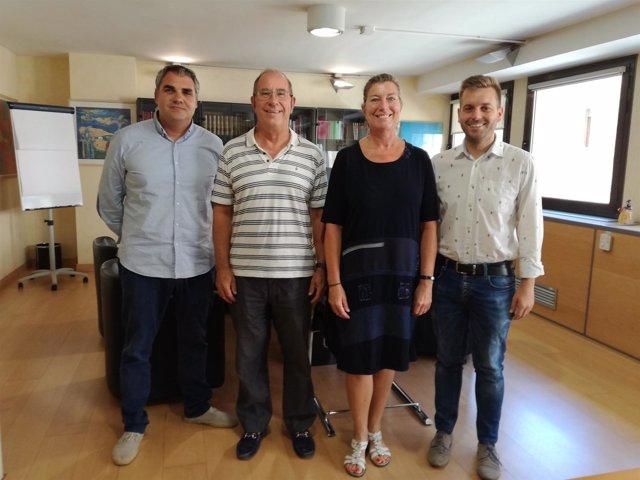 Reunión de la consellera de salud con el alcalde de Binissalem