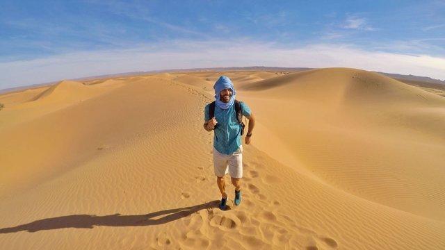 Maraton Man en el desierto