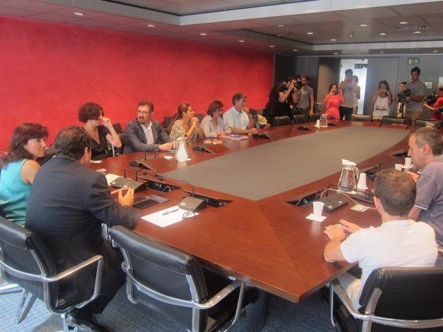 Reunión sobre la huelga de Eulen en el Aeropuerto de Barcelona