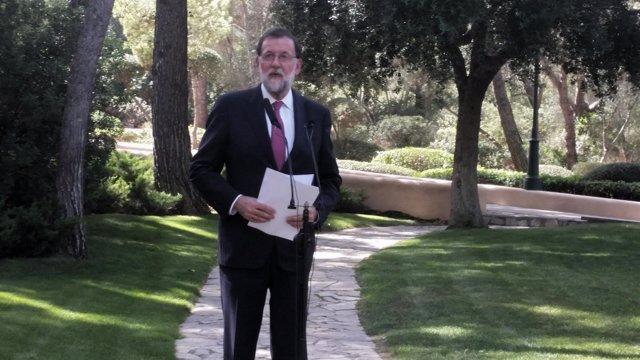 Rajoy, Tras Su Despacho Con El Rey En Marivent