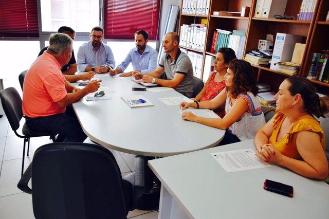 Reunión PSOE con COAG sequía ganado málaga recursos hídricos