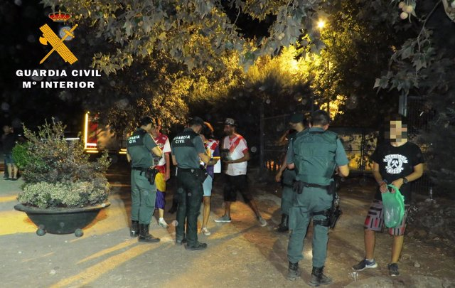 Dispositivo de la Guardia Civil en el Shikillo Festival
