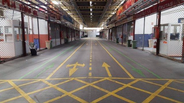 Nuevo estado del pavimento interior en Mercamadrid
