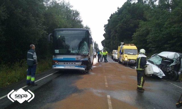Accidente de tráfico en Tabaza