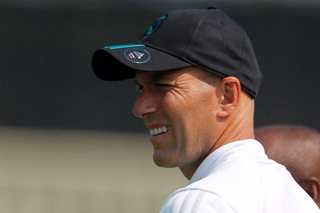 Zinedine Zidane, entrenador del Real Madrid, en la gira americana