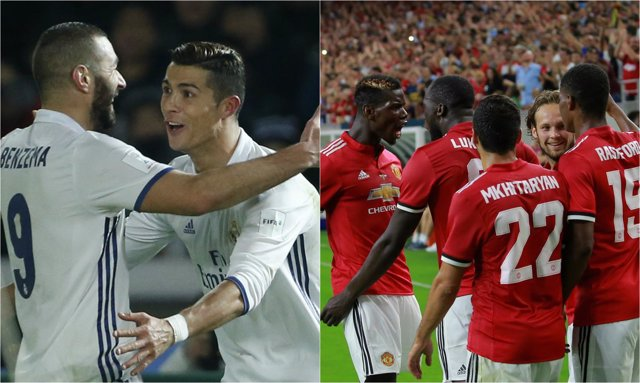 Cristiano Benzema Real Madrid Manchester United