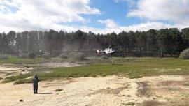 Un helicóptero de la Guardia Civil se suma a las labores de búsqueda de un joven en el pantano de Soria