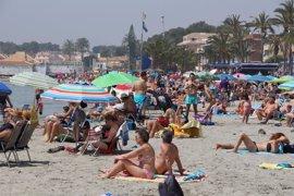 Bandera amarilla en dos playas de La Unión