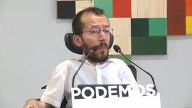 """Echenique critica el """"turbio espectáculo"""" del dirigente de Podemos Castilla-La Mancha agredido"""