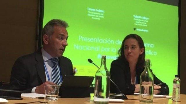 Valentín Alfaya present la Plataforma Nacional Española para la Acción Climática