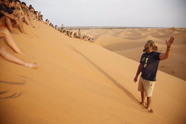 España Rumbo al Sur 2017.Charla de Telmo Aldaz sobre la vida en el desierto, en