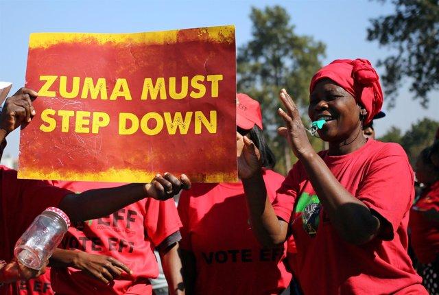 Protesta contra Jacob Zuma