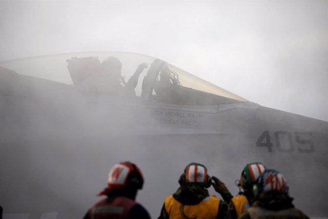 Despegue de un F18