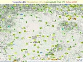 Siete de las diez temperaturas más bajas del país en CyL