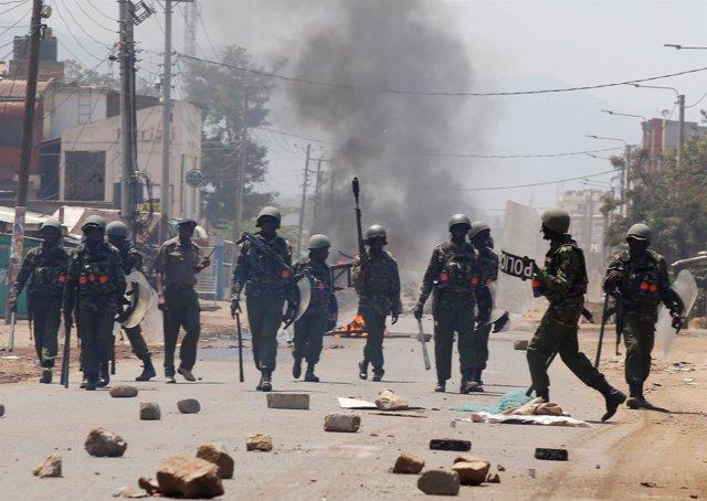 Portestas en Kenia por los resultados electorales