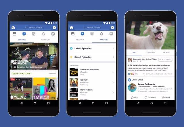 Facebook Watch es la nueva plataforma de programas y series de la red social