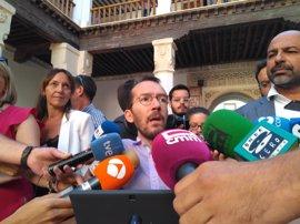 """Echenique dice que hay """"dictámenes contradictorios"""" sobre el nuevo código disciplinario de Podemos"""