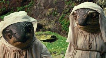 Foto: Star Wars presenta a las Cuidadoras, las monjas alienígenas que acompañan a Luke Skywalker en Ahch-To