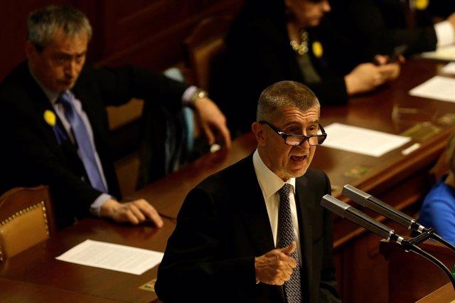 El líder del partido Ciudadanos Descontentos, Andrej Babis.