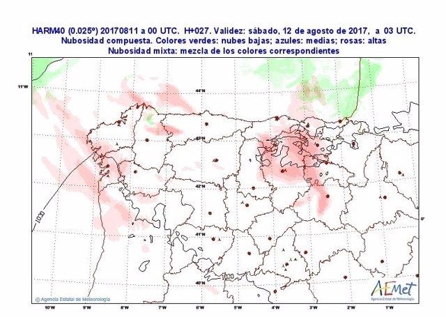 Cuadro explicativo de las temperaturas en Castilla y León