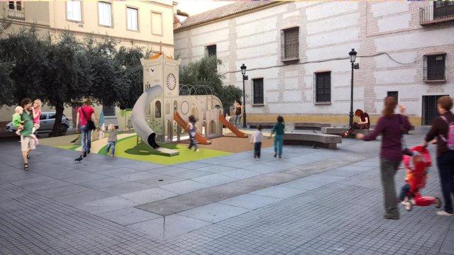 Plaza de las cofradías parque infantil previsto antes fin año centro málaga capi