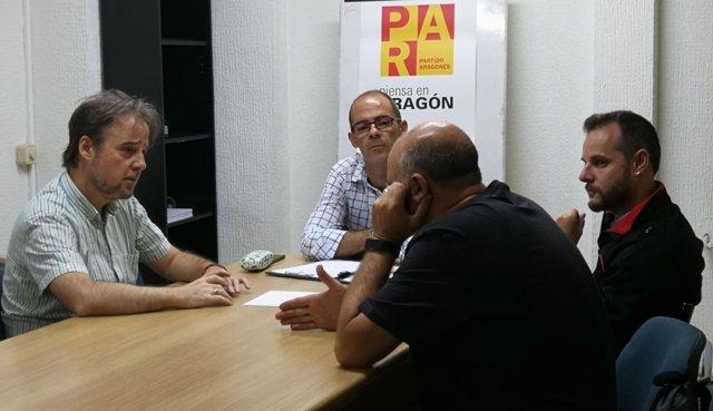 Reunión entre el PAR Zaragoza y trabajadores de AUZSA