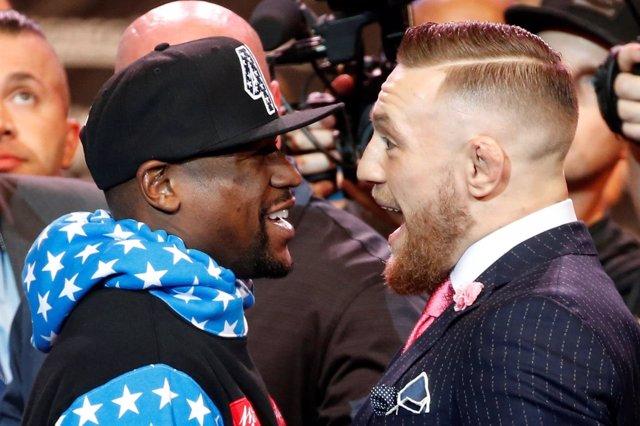 Floyd Mayweather y Conor McGregor encarados
